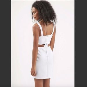 TopShop White Bodycon Cutout Mini Dress